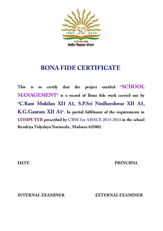 Bonafide certificate sample for school project images bonafide certificate sample for school project image collections bonafide certificate sample for school project choice image yelopaper