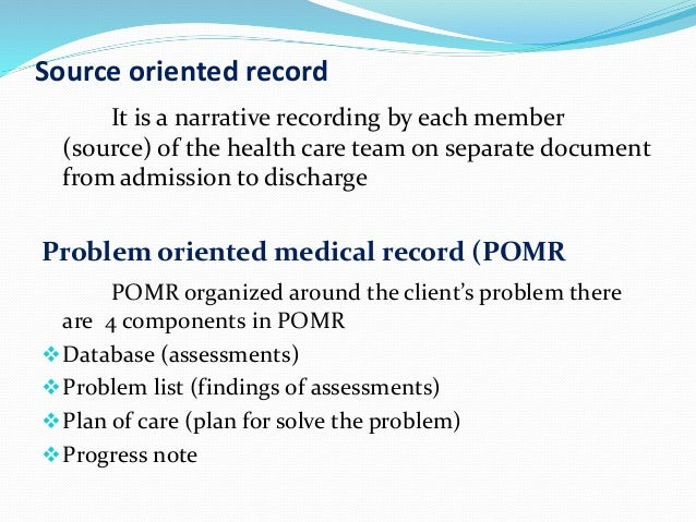 source oriented record