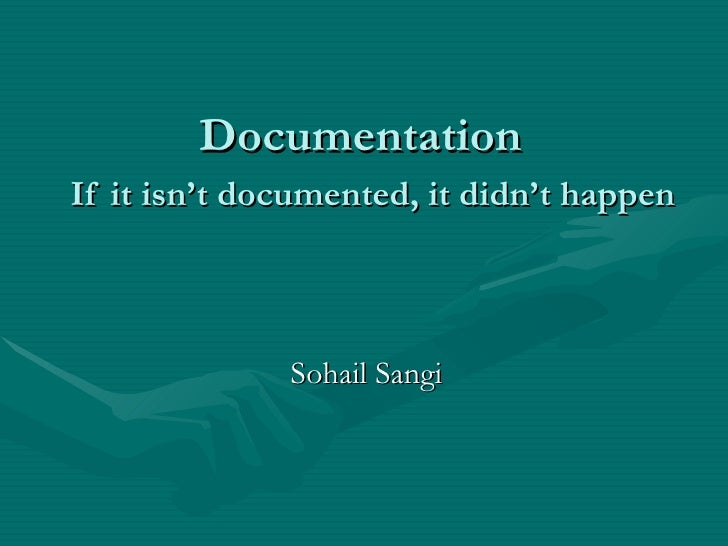 what is documentation and its techniques