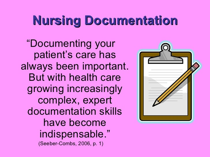 Writing nursing notes