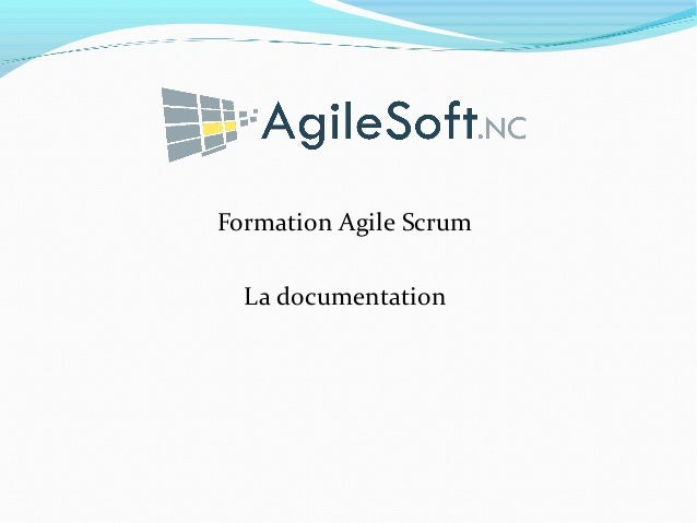 Formation Agile Scrum La documentation