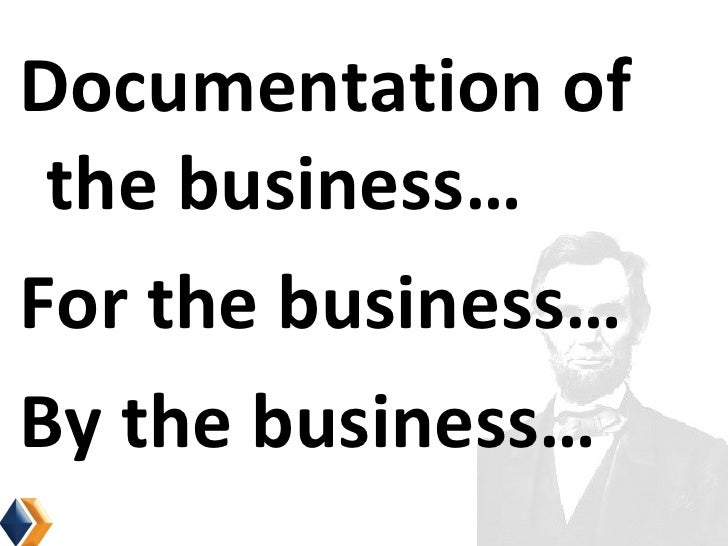 Business Optix <ul><li>Documentation of the business… </li></ul><ul><li>For the business… </li></ul><ul><li>By the busines...