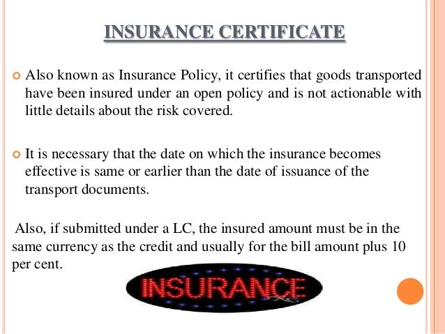 insurance documents