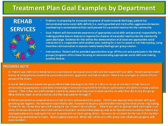 Documentation of Active Treatment