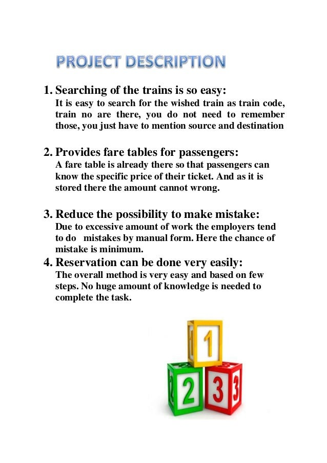 Documentation of railway reservation system