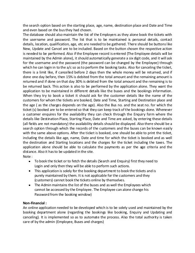 online bus ticket reservation system project proposal pdf