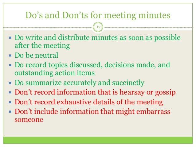 Filing Documentation And Effective Meetings