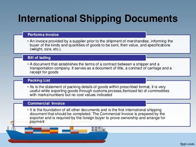 Documentation process in international Trade & Transportation