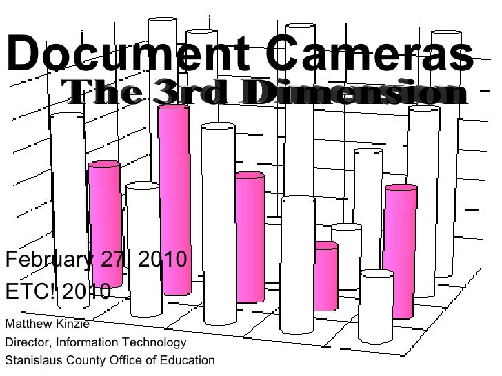 Document Cameras Matthew Kinzie Director, Information Technology Stanislaus County Office of Education February 27, 2010 E...