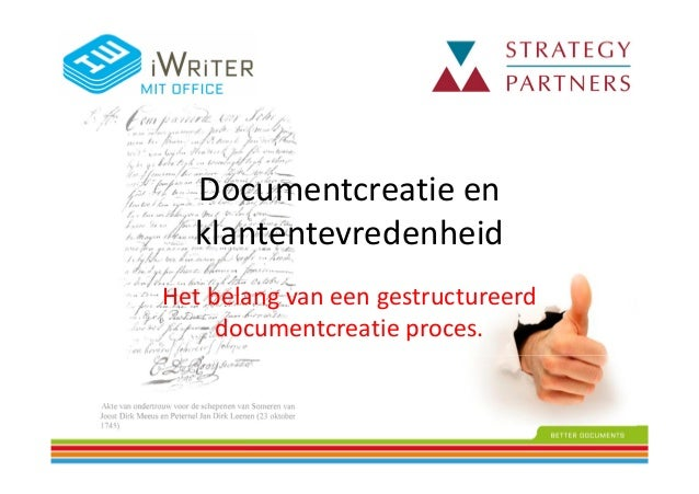 Documentcreatie en klantentevredenheid Het belang van een gestructureerd documentcreatie proces.