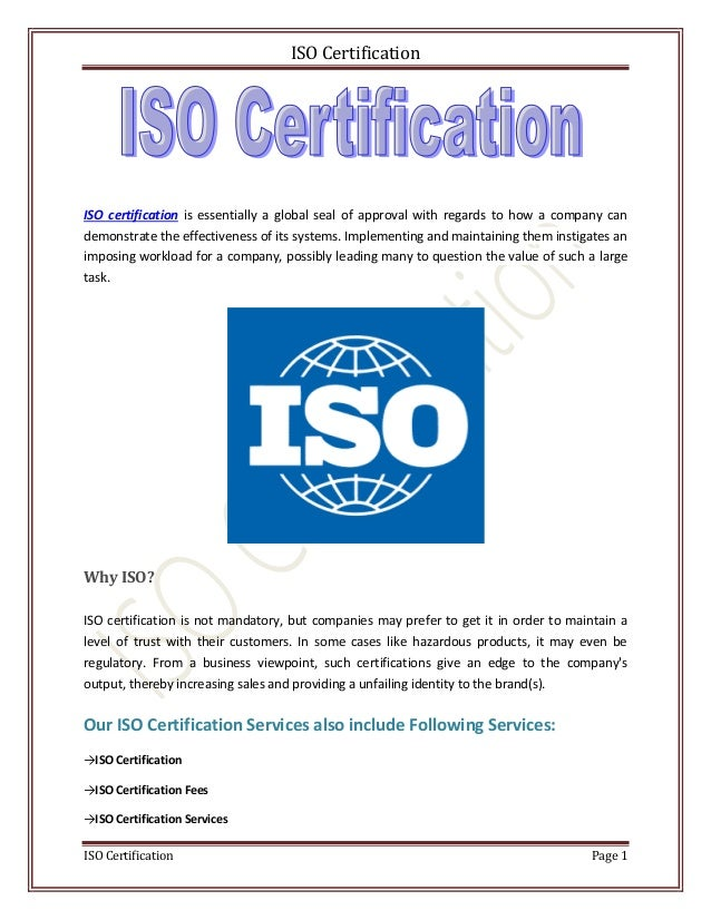 Iso Certification Services Providers In Ahmedabad