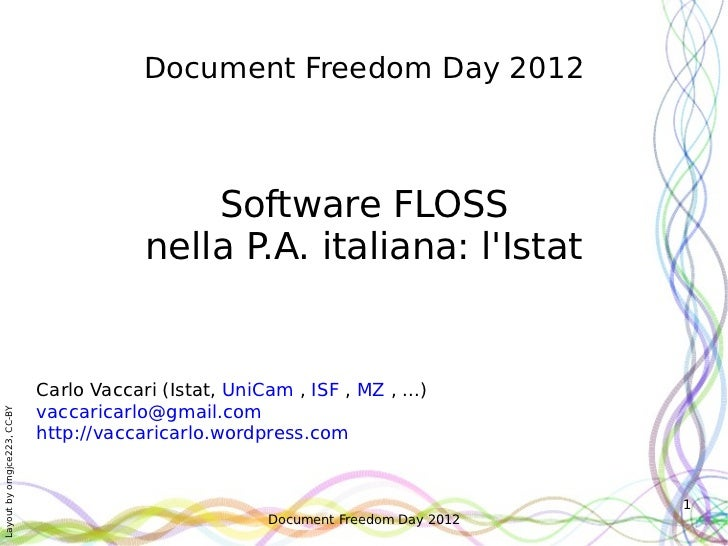 Document Freedom Day 2012                                              Software FLOSS                                     ...