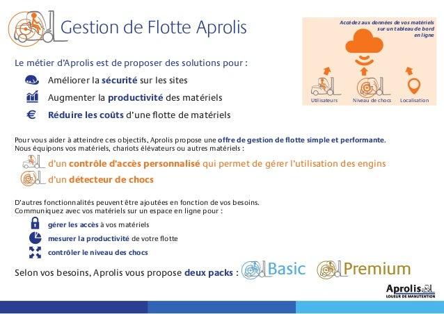 Le métier d'Aprolis est de proposer des solutions pour : Améliorer la sécurité sur les sites Augmenter la productivité des...