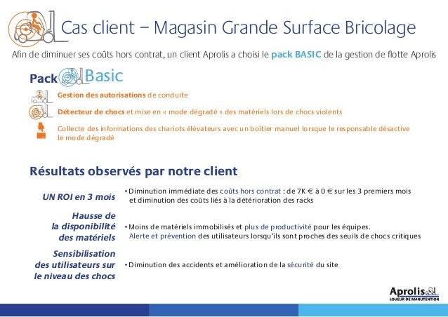Cas client – Magasin Grande Surface Bricolage Pack Gestion des autorisations de conduite Détecteur de chocs et mise en « m...