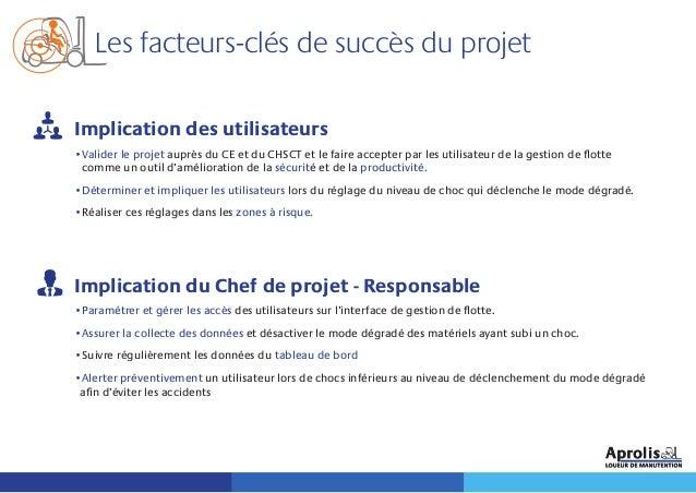 Les facteurs-clés de succès du projet Implication des utilisateurs •Valider le projet auprès du CE et du CHSCT et le faire...