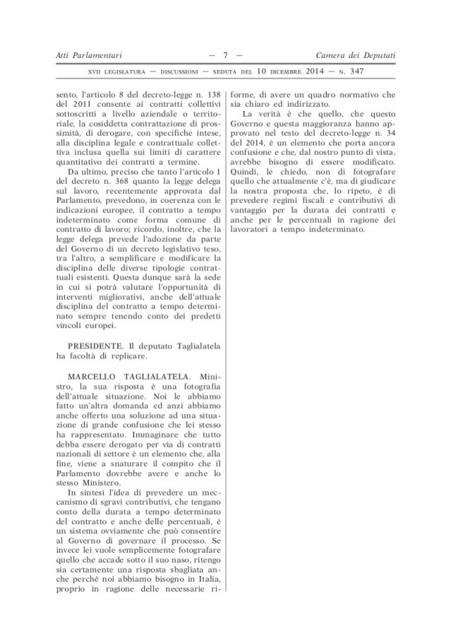 Documenti camera n347 for Atti parlamentari camera