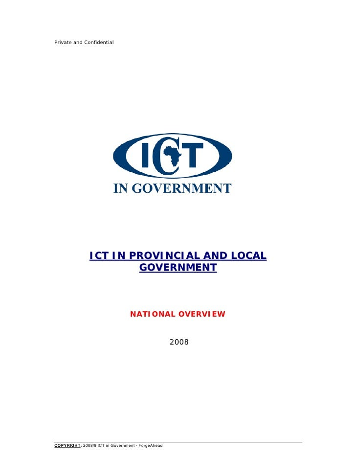 Private and Confidential               ICT IN PROVINCIAL AND LOCAL                       GOVERNMENT                       ...