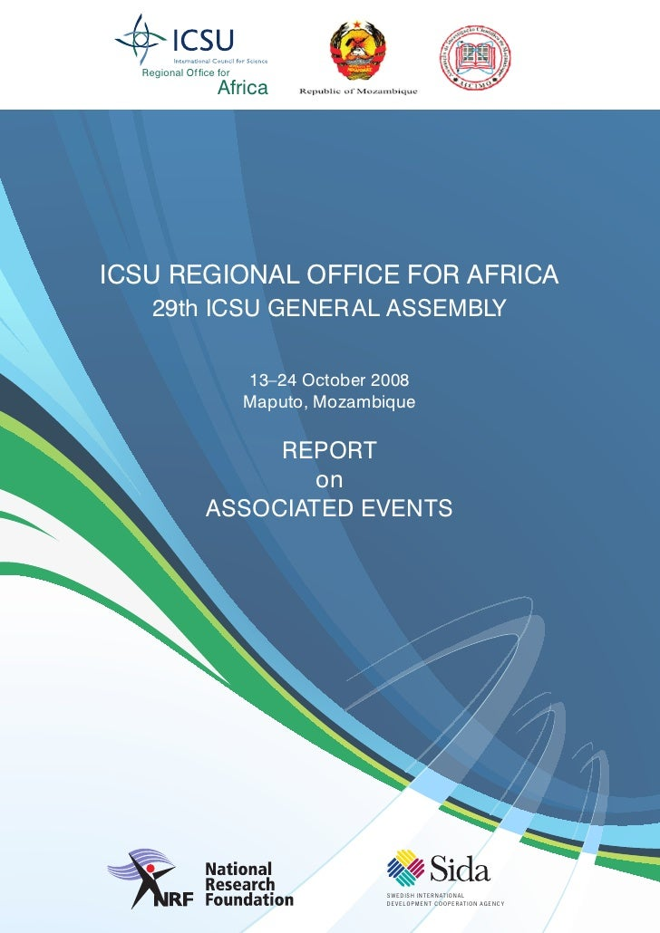 Regional Of fice for                    Africa     ICSU REGIONAL OFFICE FOR AFRICA     29th ICSU GENERAL ASSEMBLY         ...