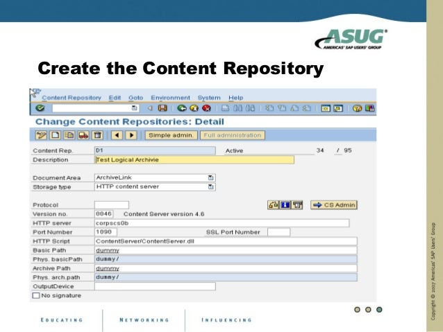 Create the Content Repository
