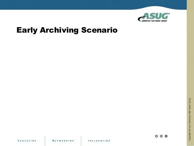 Early Archiving Scenario