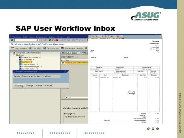 SAP User Workflow Inbox