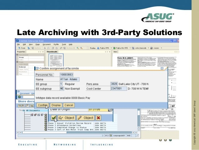 Late Archiving with 3rd-Party Solutions