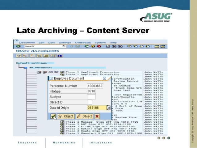 Late Archiving – Content Server