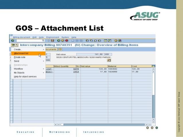 GOS – Attachment List