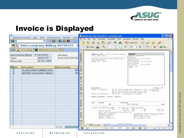 Invoice is Displayed