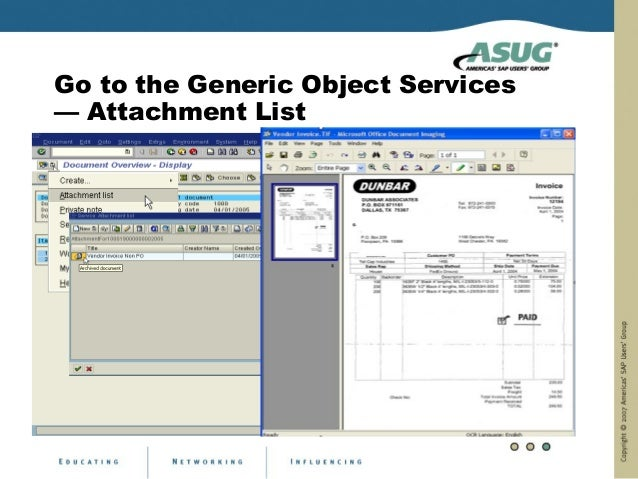 Go to the Generic Object Services— Attachment List