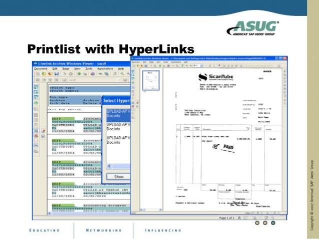 Printlist with HyperLinks