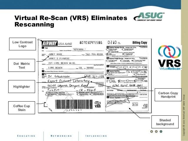 Virtual Re-Scan (VRS) Eliminates RescanningLow Contrast   LogoDot Matrix   TextHighlighter                                ...