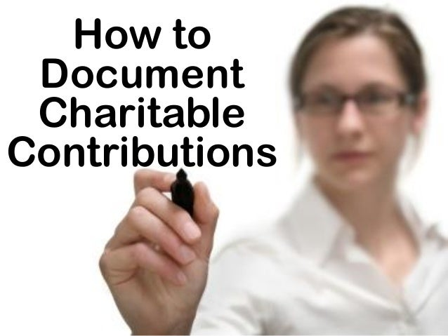 How to Document Charitable Contributions