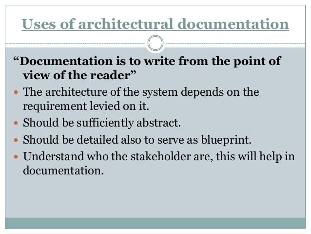 Documenting software architecture Slide 3