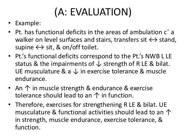 Documenting the evaluation (a)
