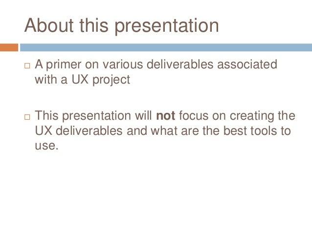 UX Deliverables Slide 2