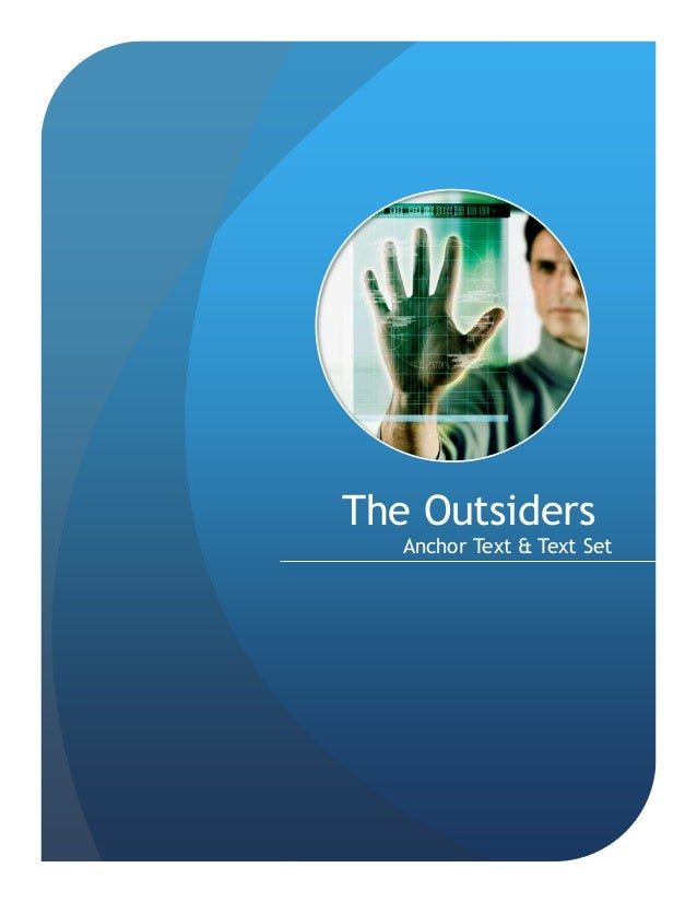 The Outsiders Anchor Text & Text Set
