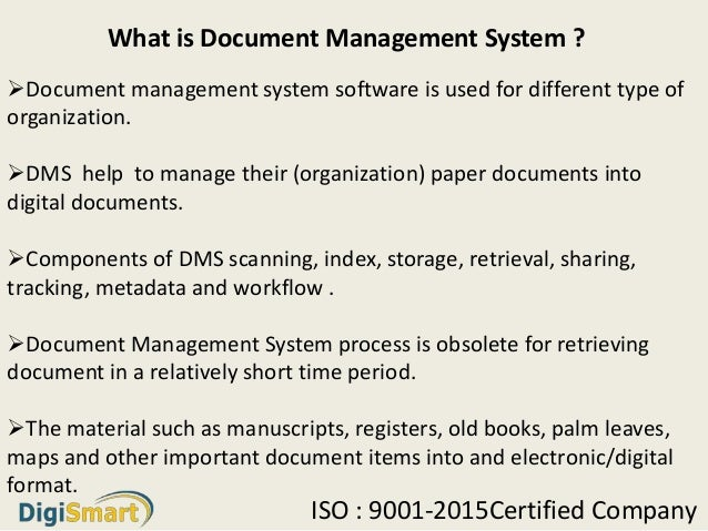 What Is Mean By Document Management System Software