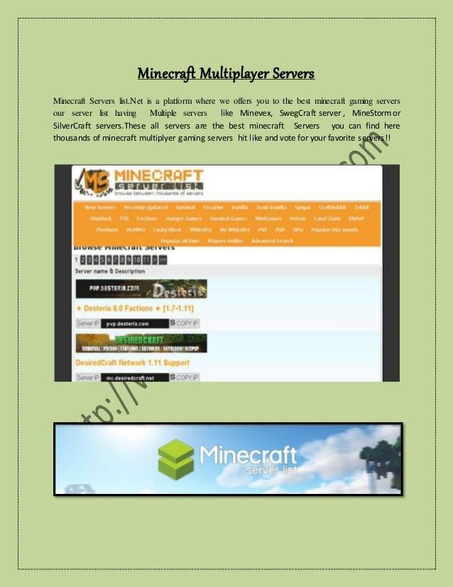 Minecraft Multiplayer Servers