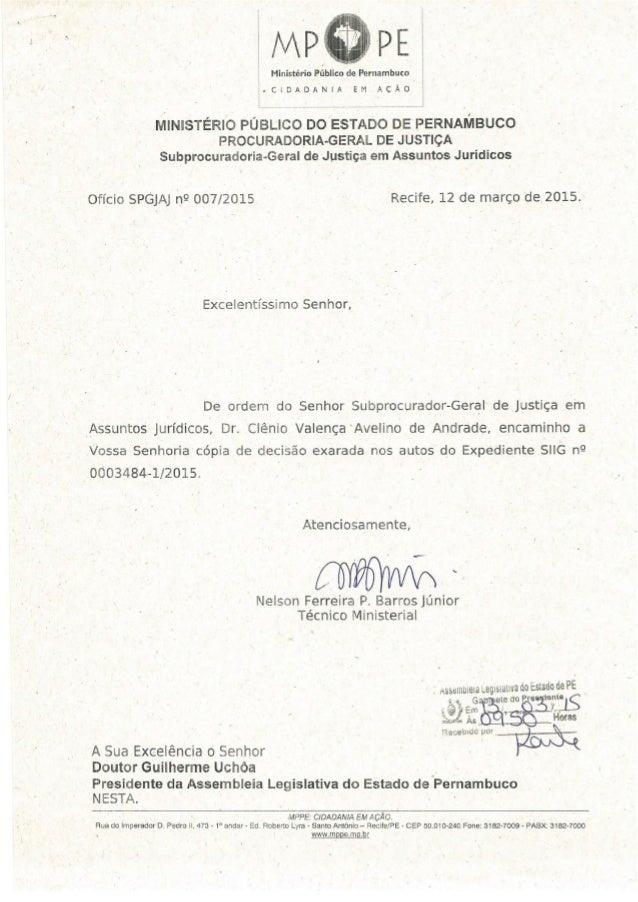 Ministério Publico de Pernambuco  . CIDADANIA EM AÇÃO  lVllNlSTÉRlO PÚBLICO DO ESTADO DE PERNAMBUCO PROCURADORIA-GERAL DE ...