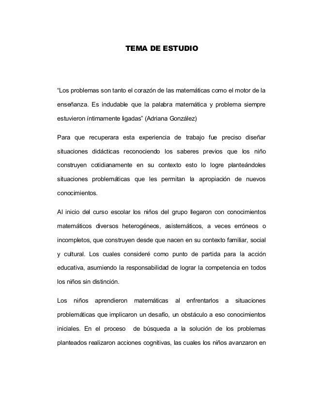 RESOLUCION DE PROBLEMAS PREESCOLAR TESIS
