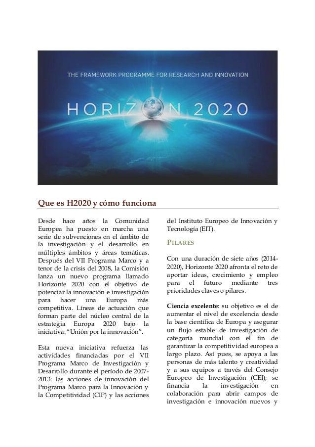 Guía Horizonte 2020 | OFPI Slide 3