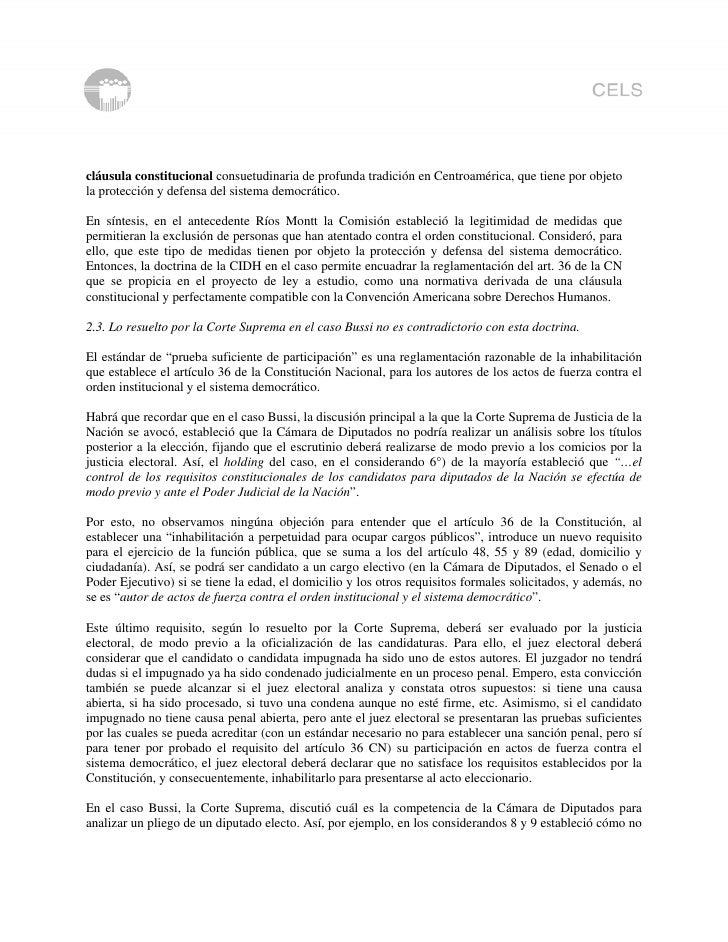 cláusula constitucional consuetudinaria de profunda tradición en Centroamérica, que tiene por objeto la protección y defen...