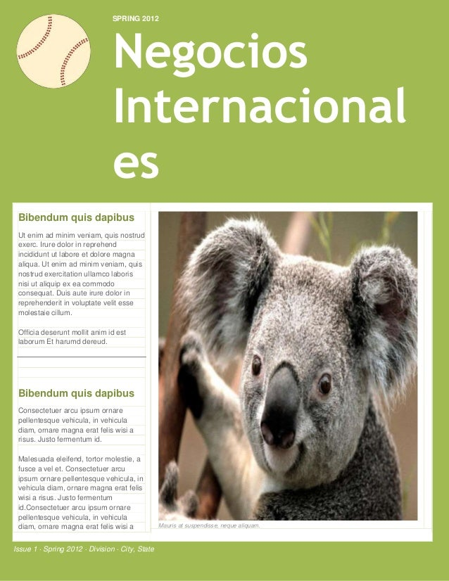 SPRING 2012                                Negocios                                Internacional                          ...