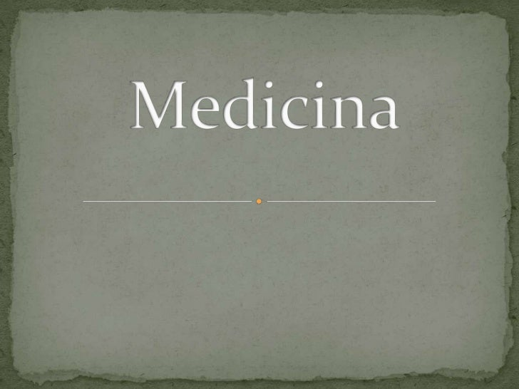 Medicina<br />