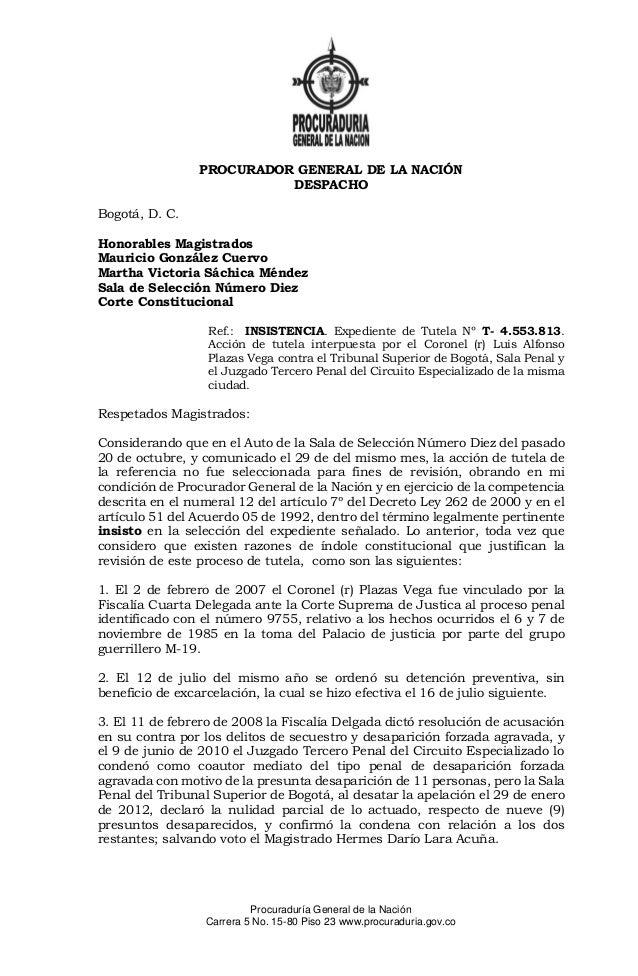 Procuraduría General de la Nación  Carrera 5 No. 15-80 Piso 23 www.procuraduria.gov.co  PROCURADOR GENERAL DE LA NACIÓN  D...