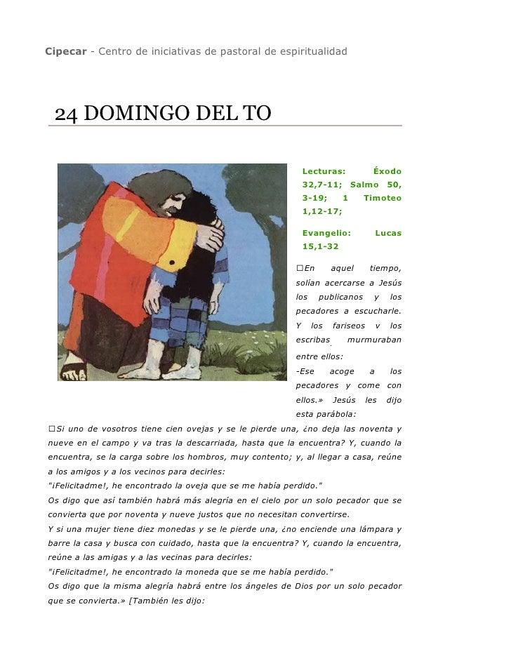 Cipecar - Centro de iniciativas de pastoral de espiritualidad      24 DOMINGO DEL TO                                      ...