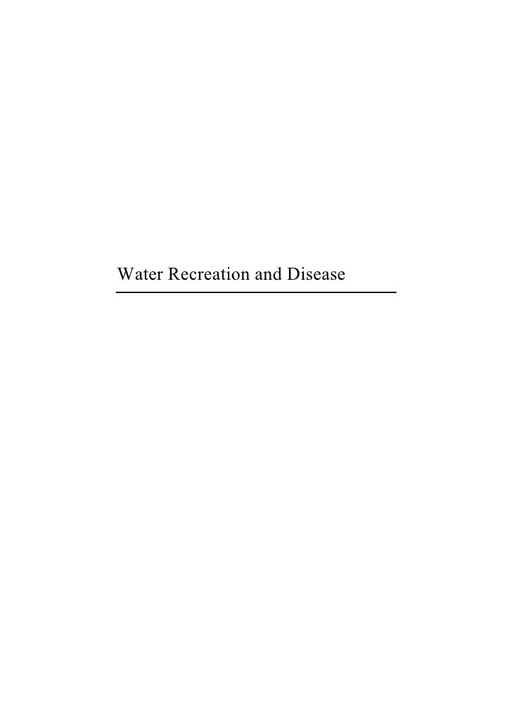Water Recreation and Disease