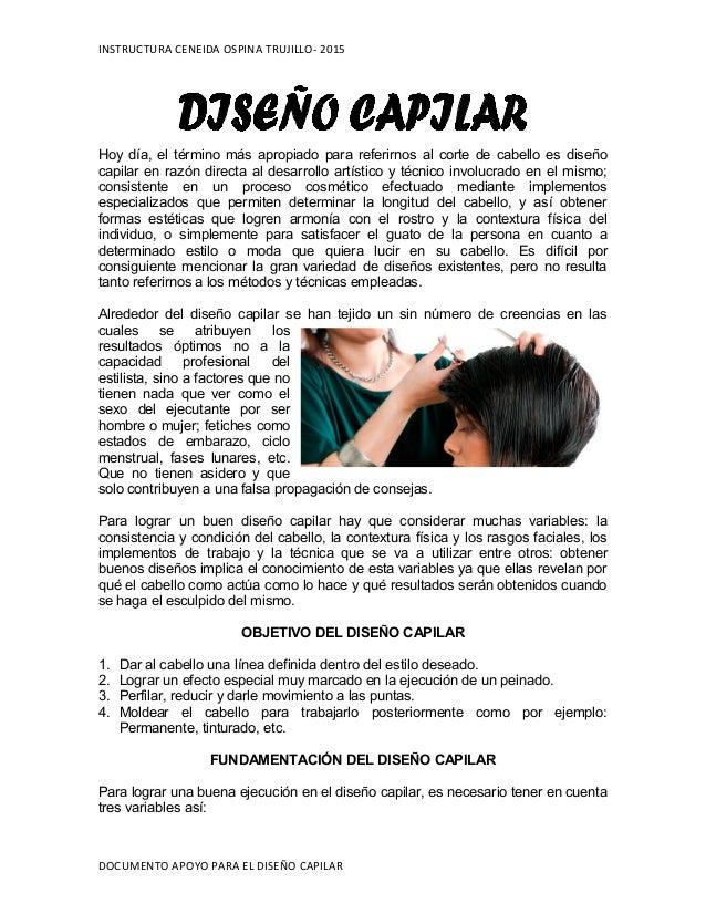 Documento apoyo ayuda textual dise o capilar for Disenos de pelo