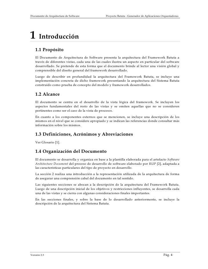 documento arquitectura de software